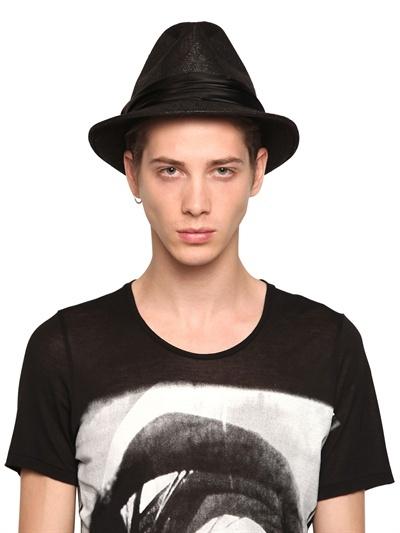 Julius Abstract Raffia Panama Hat