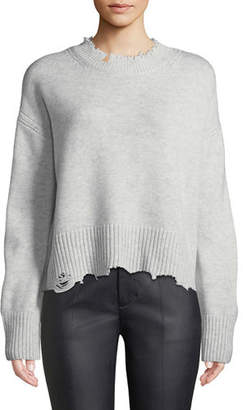 Helmut Lang Distressed Crewneck Pullover Sweater