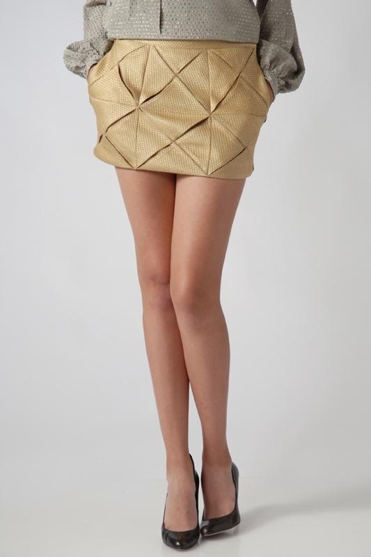 United Bamboo Origami Mini Skirt