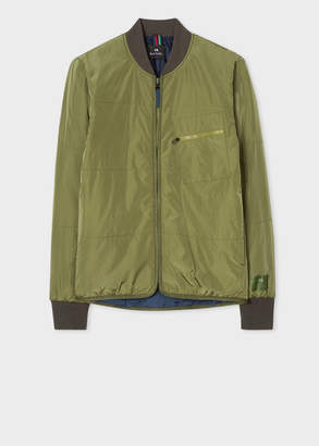 Paul Smith Men's Khaki Quilted 2-In-1 Bomber Jacket Liner