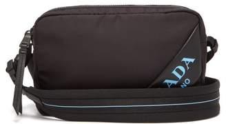 Prada Debossed Logo Nylon Cross Body Bag - Womens - Black