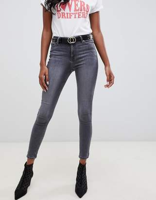 Miss Selfridge skinny jeans in gray