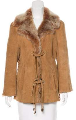 Neiman Marcus Fur Leather Coat