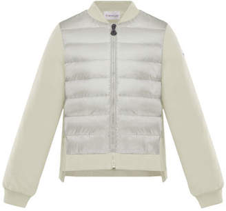 Moncler Knit & Quilted Combo Jacket, Size 8-14