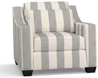 Pottery Barn York Slope Arm Deep Seat Upholstered Armchair - Print and Pattern