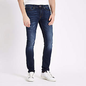 River Island Dark blue Sid skinny jeans