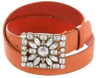 Linea Pelle Embellished Leather Belt