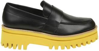 Paloma Barceló Palomitas Black Leather Loafers