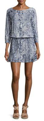 Joie Arryn Snakeskin-Print Blouson Dress $178 thestylecure.com