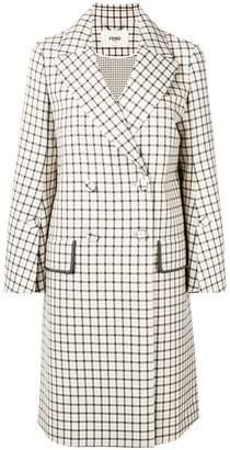 Fendi double breasted check coat
