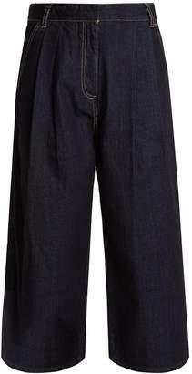 Tibi Sam wide-leg cropped jeans