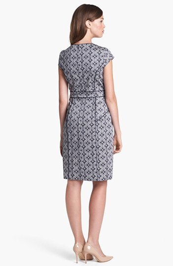 Adrianna Papell Mosaic Print Dress