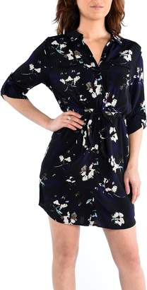 Dex Rolup S Button Front Shirt Dress