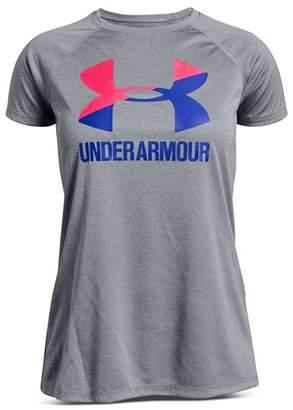 Under Armour Girls' Big Logo Solid Tee - Big Kid