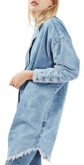 TopshopWomen's Topshop Elton Fray Denim Shirtdress