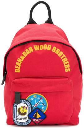 DSQUARED2 camping patch backpack