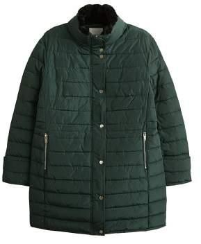 Violeta BY MANGO Quilted midi coat