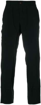 Comme des Garcons paneled straight leg trousers