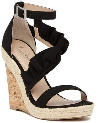Charles by Charles David Brooke Ruffled Espadrille Wedge Sandal