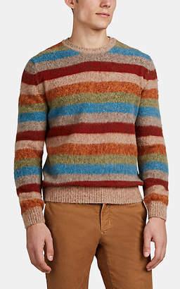 BEIGE S.MORITZ Men's Striped Brushed Wool Sweater - Beige, Tan