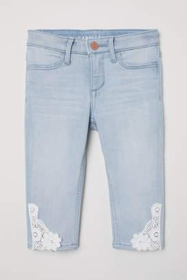H&M Skinny Fit Capri Jeans - Blue