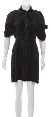 Christian Siriano Ruffle-Trimmed Mini Dress