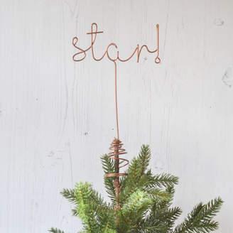 LOFT The Letter Star! Word Christmas Tree Topper