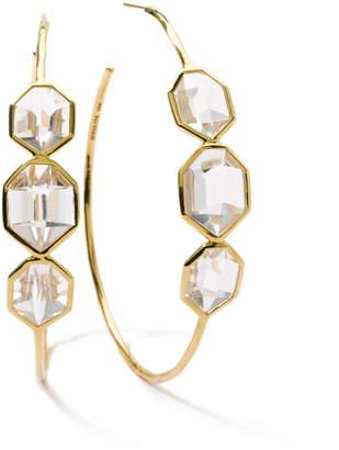 Ippolita 18k Modern Rock Candy® Clear Quartz Hoop Earrings
