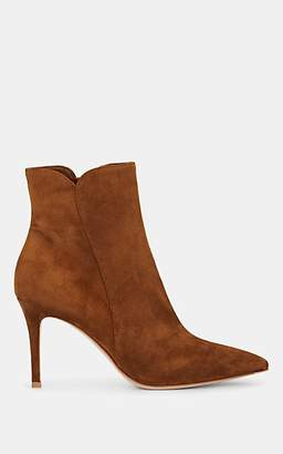 Gianvito Rossi Women's Levy Suede Ankle Boots - Med. brown