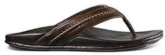 OluKai Overland Sheepskin Co Men's Mea Ola Leather Sandals