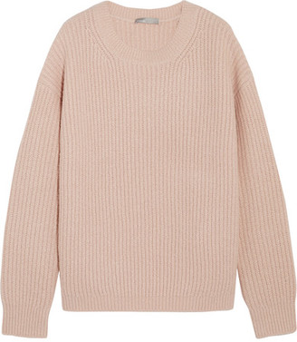 Vince - Ribbed Wool-blend Sweater - Blush $385 thestylecure.com