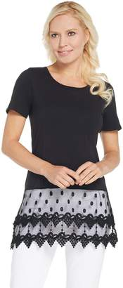 Kathleen Kirkwood Short Sleeve Top with Lace Extender