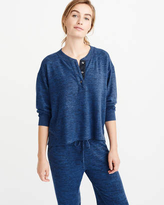 Abercrombie & Fitch Cozy Henley Sleep Shirt