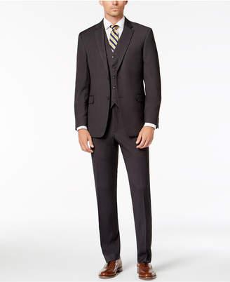 Tommy Hilfiger Men Modern-Fit THFlex Stretch Charcoal Twill Vested Suit