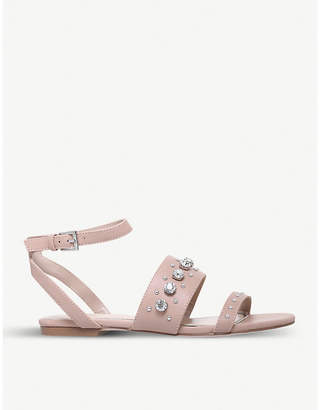 Miss KG Reach embellished faux-leather sandals