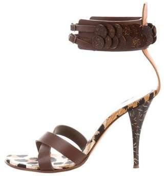 Casadei Crossover High-Heel Sandals