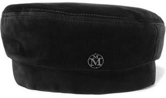 Maison Michel Florence Cotton-blend Velvet Beret - Black
