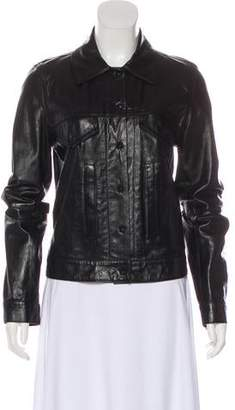 Ann Demeulemeester Grained Leather Jacket