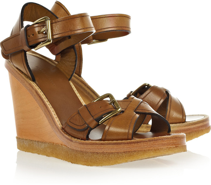 Isabel Marant Handy leather wedge sandals