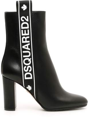 DSQUARED2 Logo Booties