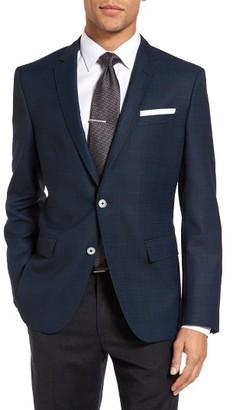 Men's Boss Hutsons Trim Fit Plaid Wool Sport Coat $595 thestylecure.com