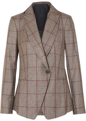 Brunello Cucinelli Sequin-embellished Prince Of Wales Checked Wool Blazer