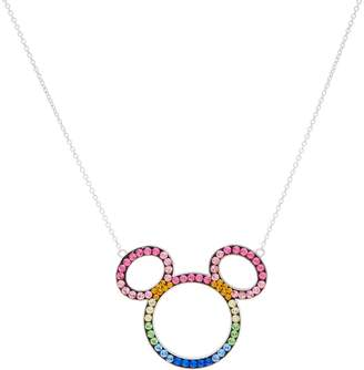 Disney Mickey's 90th Birthday Rainbow Mickey Necklace, Sterling Silver