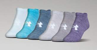 Under Armour Womens UA Big Logo No-Show Socks 6-Pack