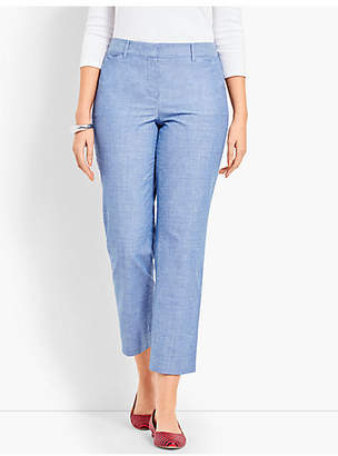 Talbots The Perfect Crop - Curvy Fit/Chambray