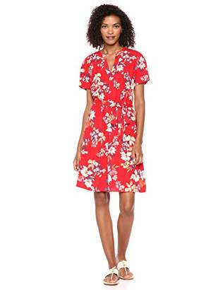 Nine West Women's Short Sleeve Shirt Dress