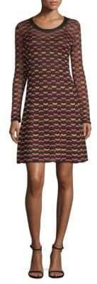M Missoni Abito Print A-Line Dress
