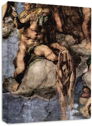 Michelangelo Style in Print Martyrs With Human Skin Streched Canvas Wrap Frame Print Wall Décor