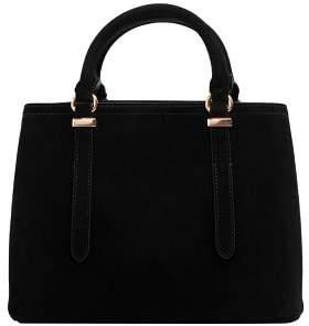 MANGO Leather tote bag