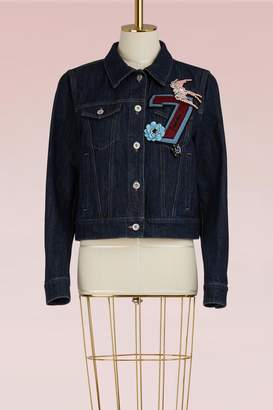 Miu Miu Denim Jacket with Embroidered Number